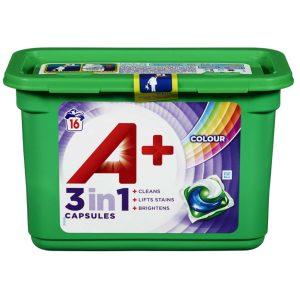 Ariel A + Colour 3 in 1 skalbimo kapsulės ,16× 27g.