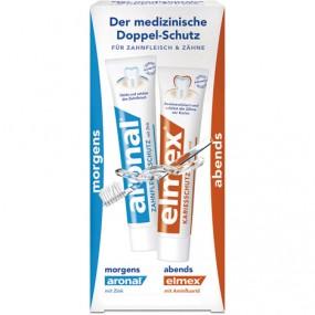 Elmex ir  Aronal dantų pastų rinkinys, 2×12 ml